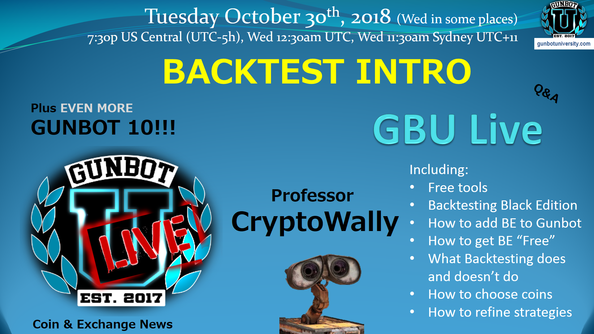 GBU LIVE Backtesting Intro