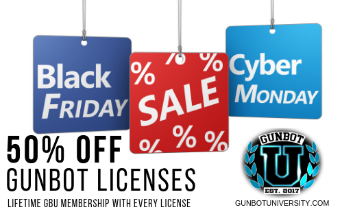 50 Off gunbot licenses at gunbotuniversity.com