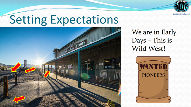 setting expectations - wild west