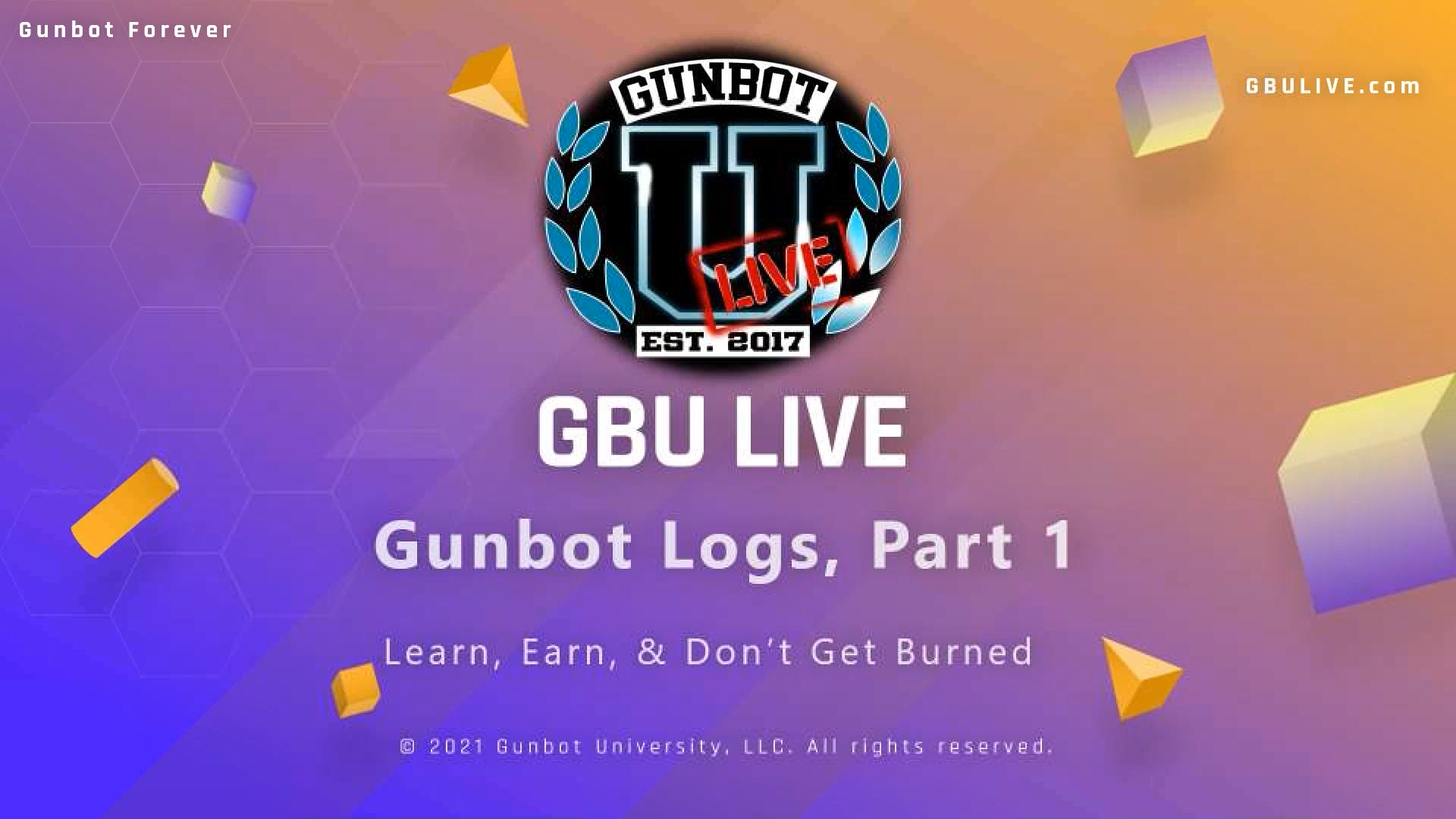 GBULIVE Gunbot Logs Part 1 cover page